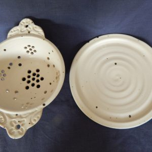 Colander and plate