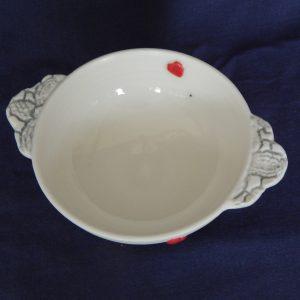 Small porcelain jam dish